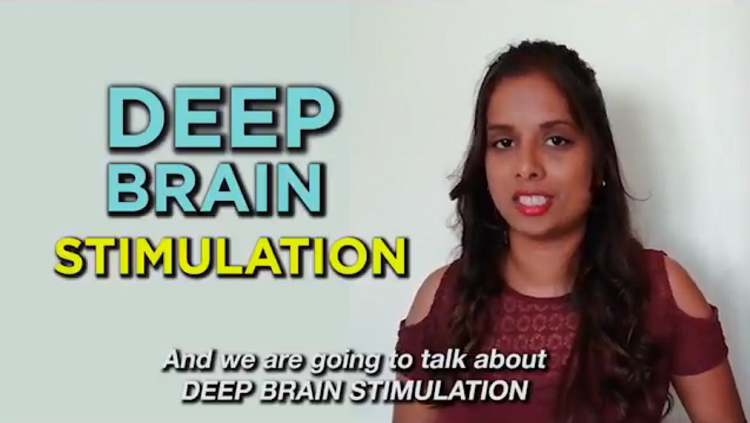 image of woman talking about deep brain stimulation
