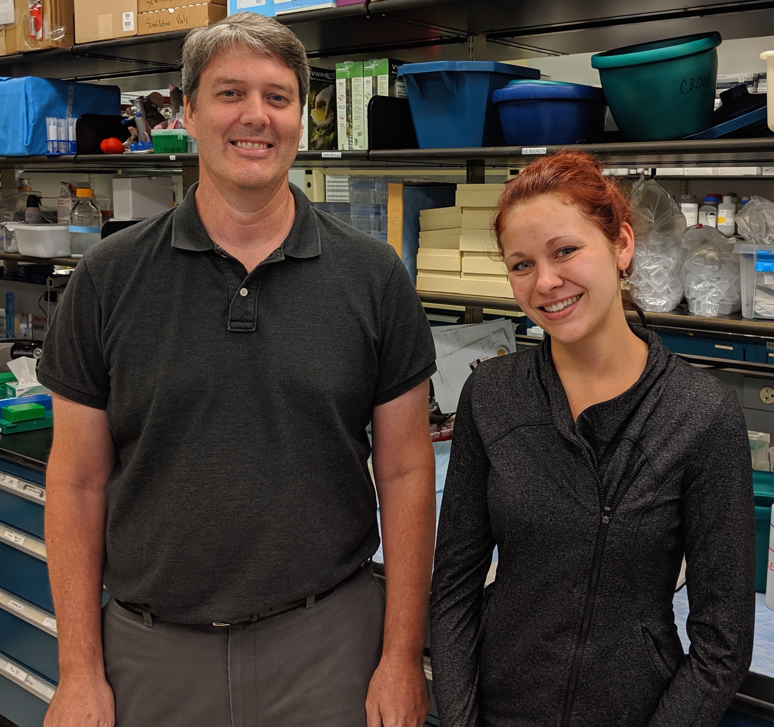 PhD Candidate Victoria Jensen and Dr. Steven Crone tell the story about their eNeuro paper that showed that glutamatergic V2a neurons participate in a circuit that serves to constrain the activity of accessory respiratory muscles so that they are active only when needed.