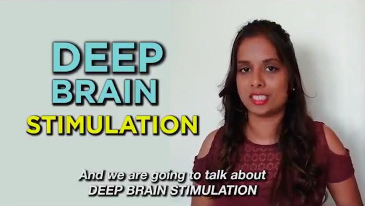 image of woman talking about deep brain stimulation