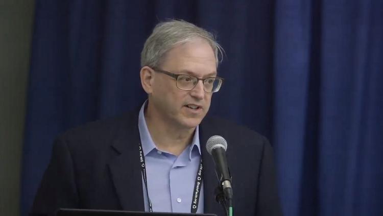 Photograph of Richard J. Smeyne speaking